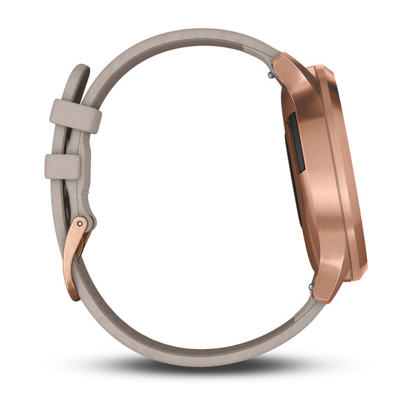 vívomove® HR Rose Gold Stainless Steel Case with Gray Suede Band