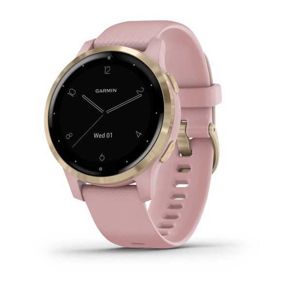 vívoactive® 4S Light Gold Stainless Steel Bezel with Dust Rose Case and Silicone Band