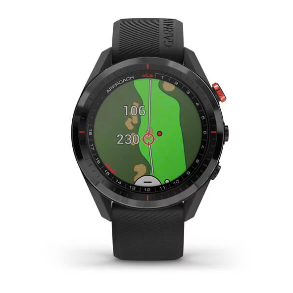 Approach® S62 Black Ceramic Bezel with Black Silicone Band