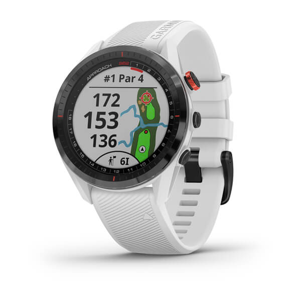 Approach® S62 Black Ceramic Bezel with White Silicone Band