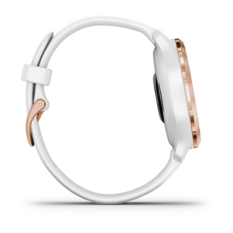 Venu® 2S Rose Gold Stainless Steel Bezel with White Case and Silicone Band