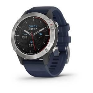 Quatix® 6 Gray with Captain Blue Band