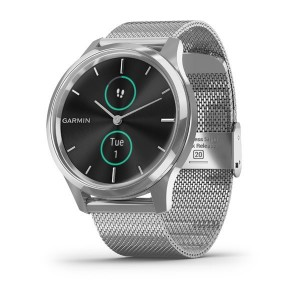 vivomove® Luxe Silver Stainless Steel Case with Silver Milanese Band