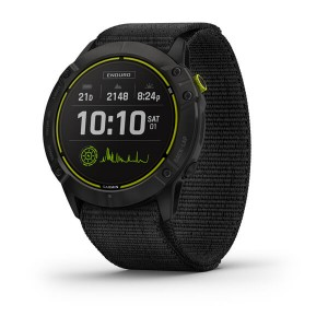 Enduro™ Carbon Gray DLC Titanium with Black UltraFit Nylon Strap