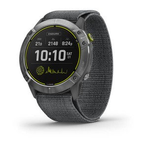 Enduro Steel with Gray UltraFit Nylon Strap