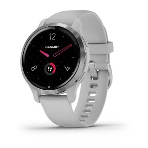 Venu® 2S Silver Stainless Steel Bezel with Mist Gray Case and Silicone Band