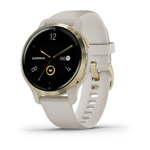Venu® 2S Light Gold Stainless Steel Bezel with Light Sand Case and Silicone Band