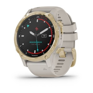 Descent™ Mk2S Light Gold with Light Sand Silicone Band